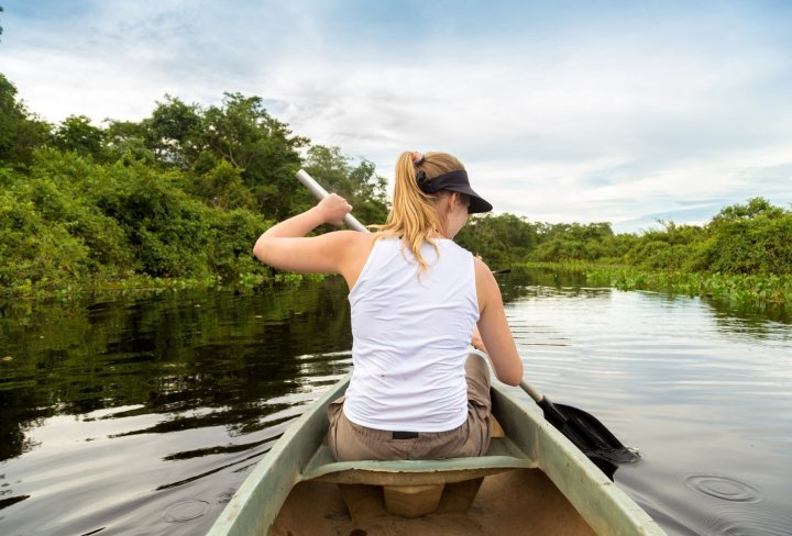 Kayaking in the Amazon