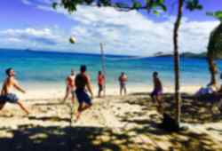 Beach sports in Fiji