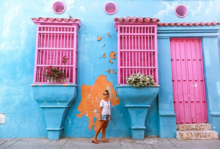 Colourful streets in Colombia