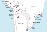 South America Travel Pass Rio to Lima Map