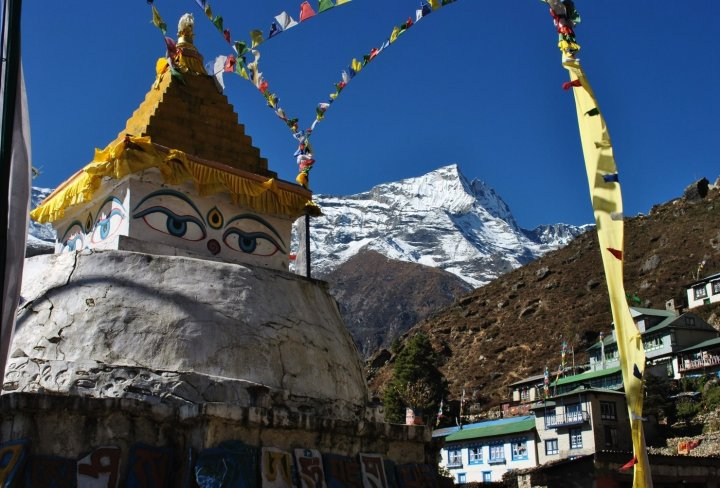 Buddhist monastery on Everest Base Camp trail