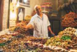 Shop for spices and tasty treats in Morocco