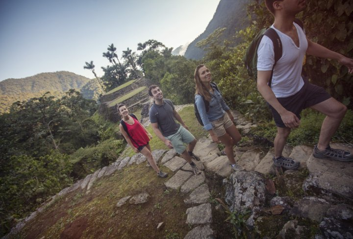 Group trekking tour in Colombia