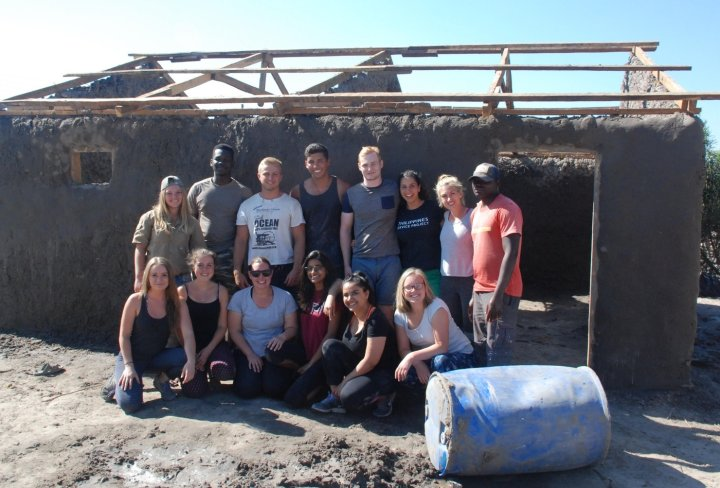 Community building project in Mwandi village, Zambia